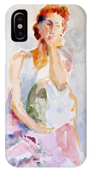 Wistful Redheaded Model IPhone Case