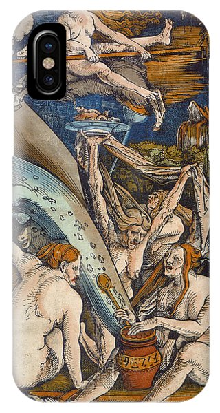 Potion iPhone Case - Witches by Hans Baldung Grien