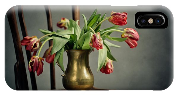 Tulip iPhone Case - Withered Tulips by Nailia Schwarz