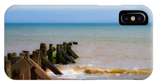 Withernsea Groynes IPhone Case