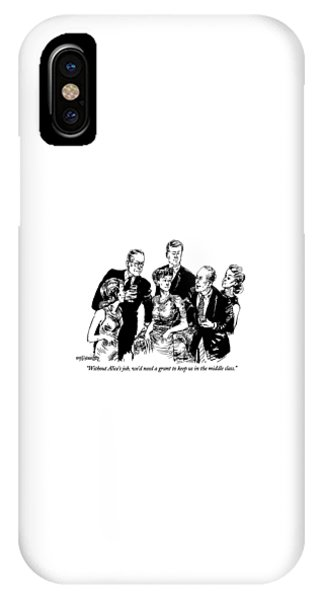 Debts iPhone Case - Without Alice's Job by William Hamilton