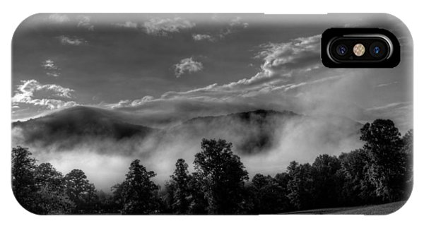 IPhone Case featuring the photograph Wnc Morning In Black And White by Greg Mimbs