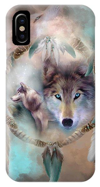 Native iPhone Case - Wolf - Dreams Of Peace by Carol Cavalaris