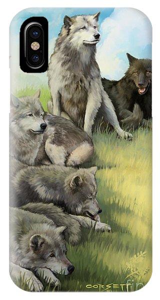Wolf Gathering Lazy IPhone Case