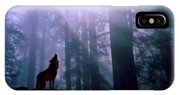 Wolf In The Woods IPhone Case