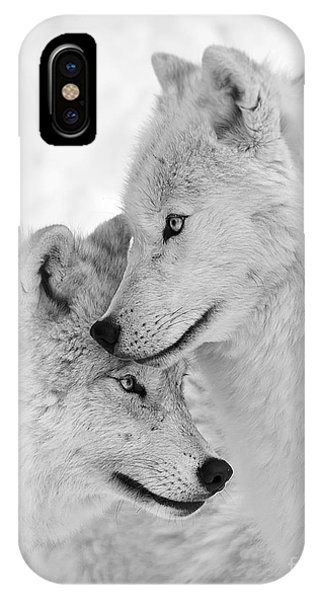 Wolf Love Black And White IPhone Case