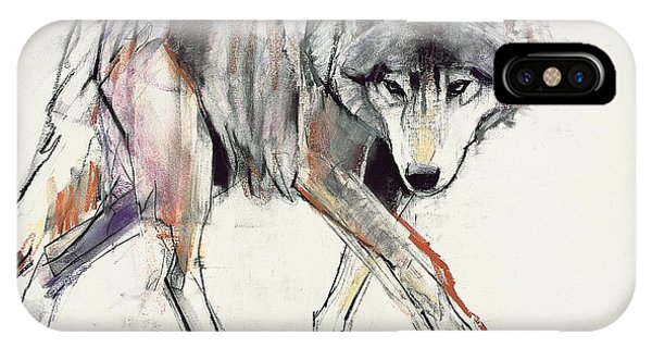 Wolf iPhone Case - Wolf  by Mark Adlington