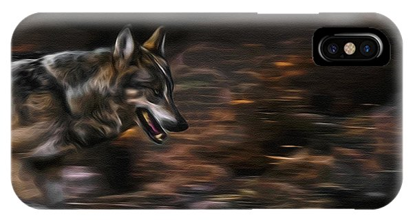 Wolf Run Digital Art IPhone Case