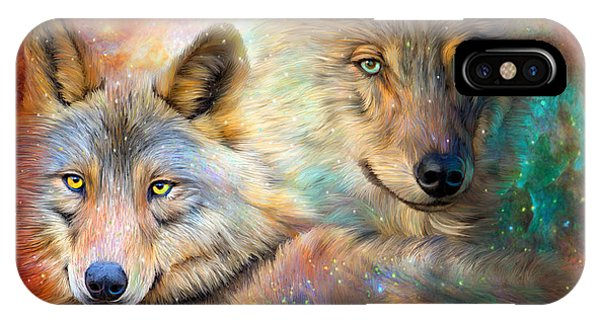 Moon iPhone Case - Wolf - Spirit Of The Universe by Carol Cavalaris