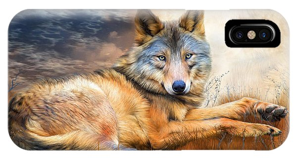 Moon iPhone Case - Wolf - Spirit Of Truth by Carol Cavalaris