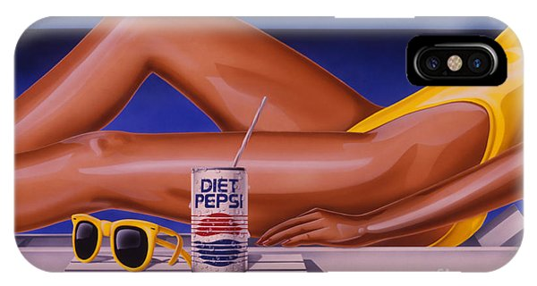 Woman At Beach With Diet Pepsi IPhone Case