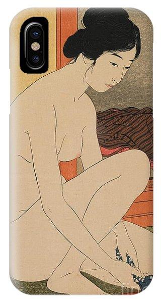 Woman Bathing Taisho Era IPhone Case