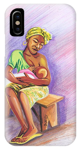Woman Breastfeeding Bay In Rwanda IPhone Case
