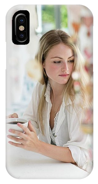 Woman Holding Coffee Cup Phone Case by Science Photo Library