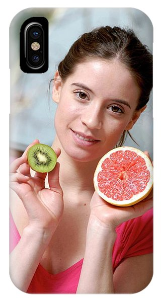 Grapefruit iPhone Case - Woman Holding Fruit by Aj Photo/science Photo Library