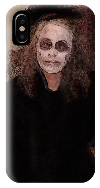 Woman In Black - Halloween At The Desoto House Hotel IPhone Case