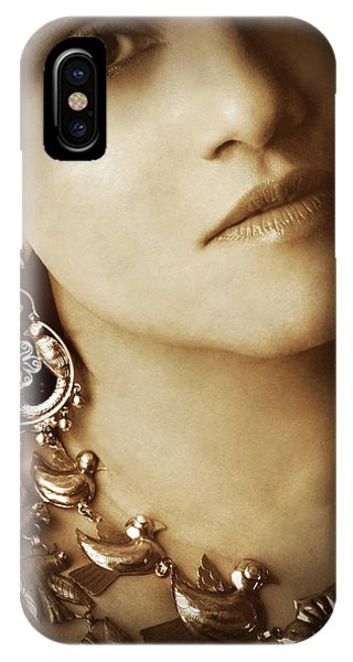 Woman In Mexican Silver Jewelry IPhone Case