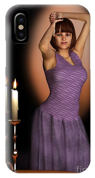 Woman In Purple Gown With Candles IPhone Case