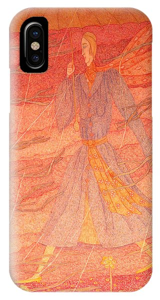 Woman In The Rain Phone Case by Eleanor Arbeit