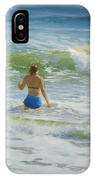 Woman In The Waves IPhone Case
