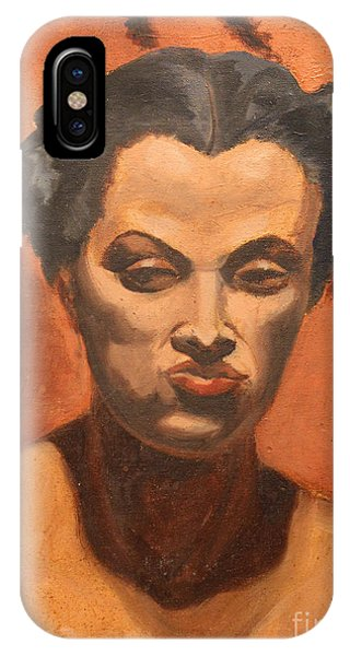 Woman In Thought  IPhone Case