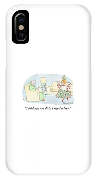 Woman Is Dressed As A Christmas Tree IPhone Case
