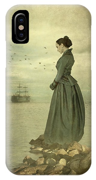 Woman Looking Out To Sea IPhone Case
