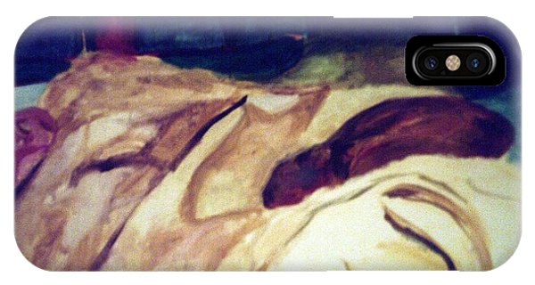 Woman Napping On A Couch  IPhone Case