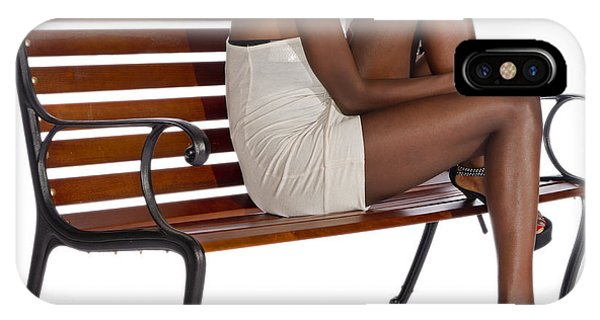 Woman On A Park Bench IPhone Case