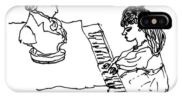 Woman Playing Piano IPhone Case