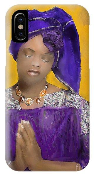 Woman Praying IPhone Case
