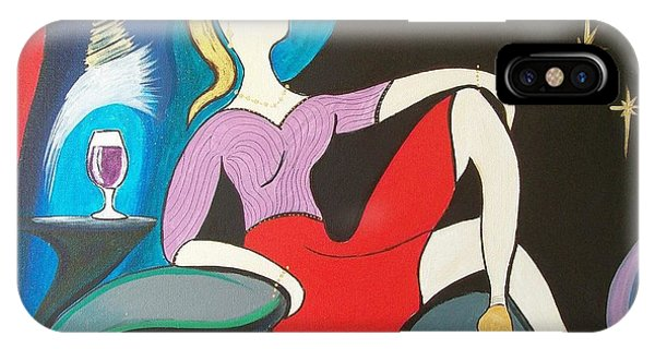 Woman Reclined In Chair IPhone Case