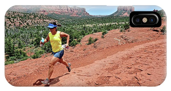 Woman Runs The Cathedral Rock Trail IPhone Case