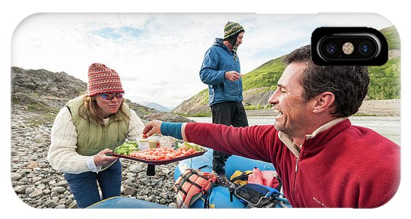 Knit Hat iPhone Case - Woman Serving Appetizers, Alsek River by Josh Miller
