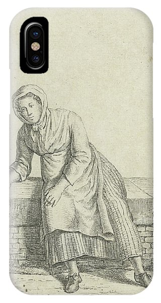 Woman Sitting On A Wall, Anthonie Willem Hendrik Nolthenius Phone Case by Quint Lox