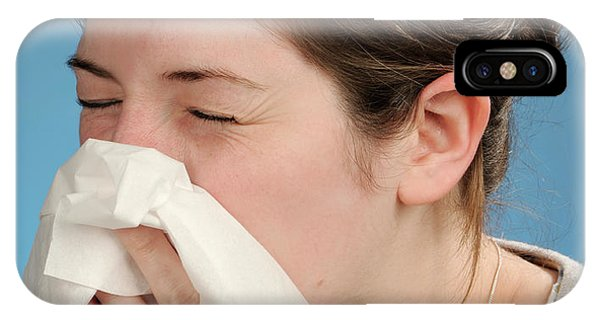 Tissue iPhone Case - Woman Sneezing by Public Health England