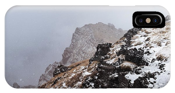 Mt Etna iPhone Case - Woman Standing At Edge Of Valle Del by Daniel Santacatalina