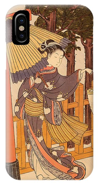 Donation iPhone Case - Woman Visiting The Shrine At Night by Mountain Dreams