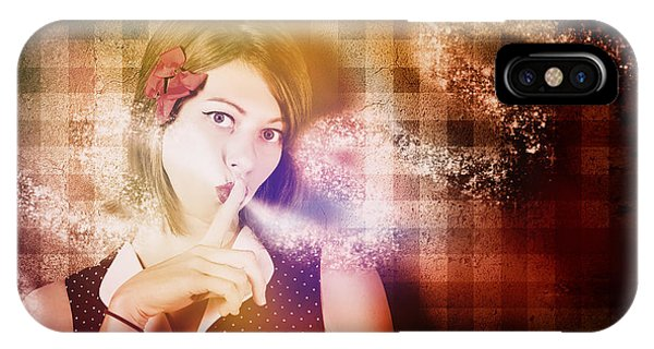 Cunning iPhone X Case - Woman Whispering A Magical Secret by Jorgo Photography - Wall Art Gallery