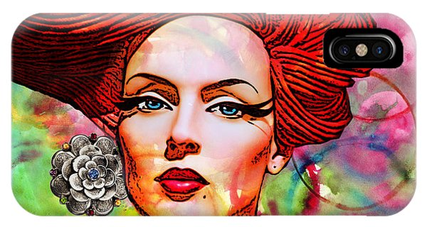 Woman With Earring IPhone Case