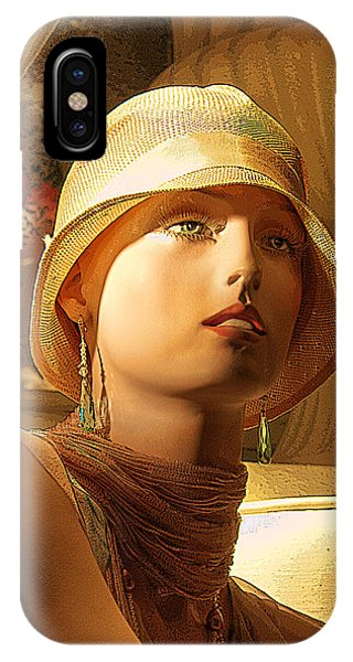 Woman With Hat IPhone Case
