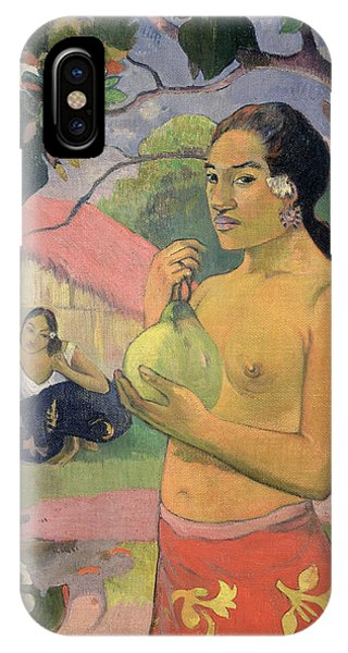 Mango iPhone Case - Woman With Mango by Paul Gauguin