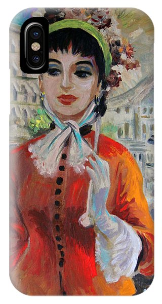 Woman With Parasol In Paris IPhone Case