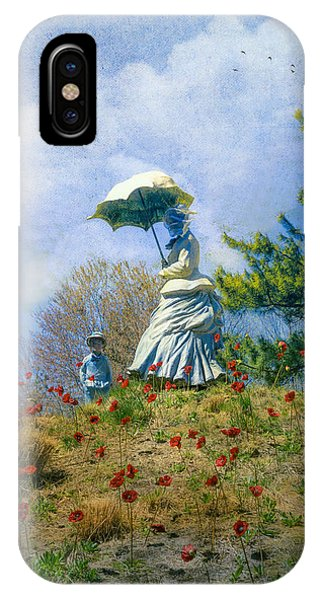 Woman With Parasol IPhone Case