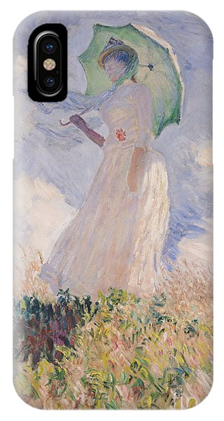 Woman With Parasol Turned To The Left IPhone Case
