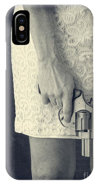 Woman With Revolver 60 X 45 Custom IPhone Case