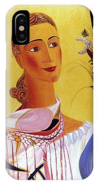 Woman With Shawl IPhone Case