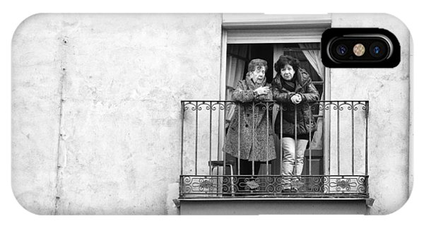 Women In Balcony IPhone Case