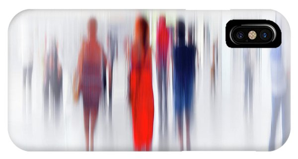 Crowd iPhone Case - Women In Red by Anette Ohlendorf