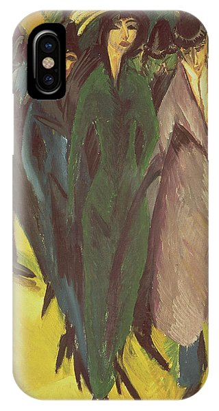 Frau iPhone Case - Women On The Street by Ernst Ludwig Kirchner